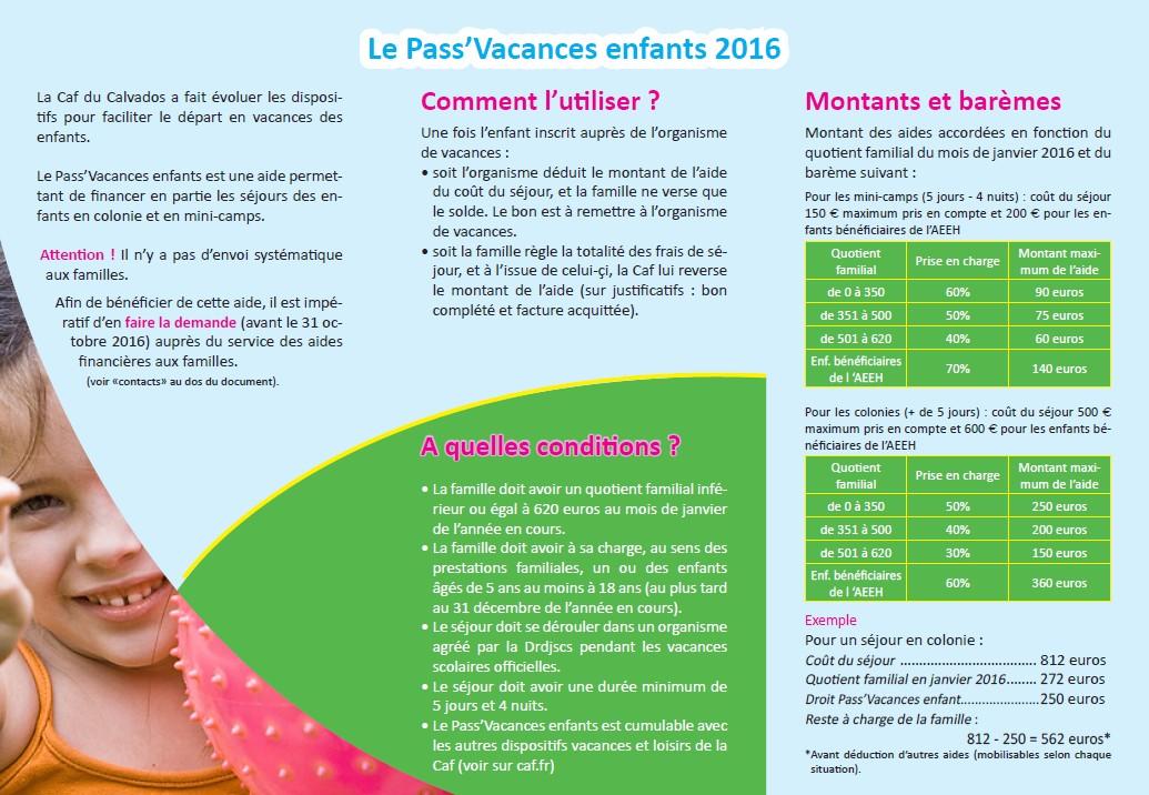 Pass Vacances Caf